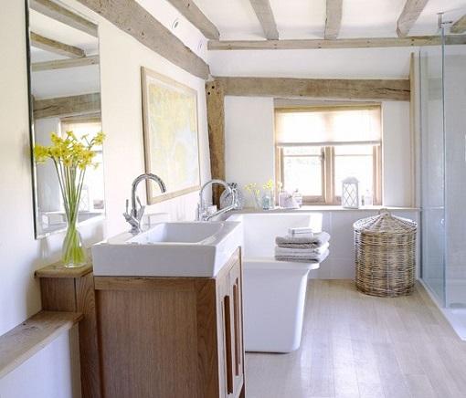 Baño Rustico Moderno:Fotos de baños rústicos: el encanto tradicional – unacasabonita