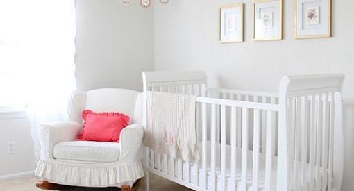 decoracion habitacion bebe en color blanco