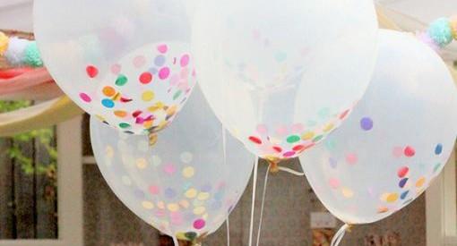 Decorar globos con confeti