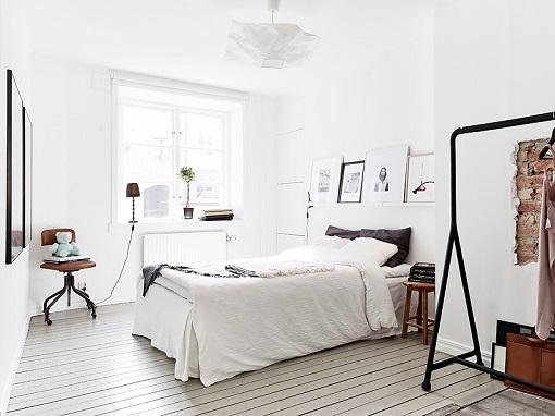 Dormitorio de estilo escandinavo