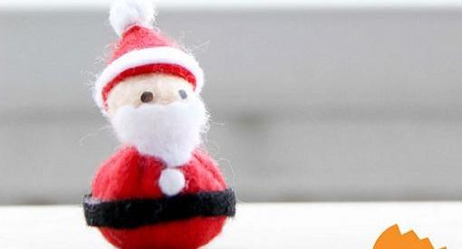 manualidades de navidad papa noel de fieltro