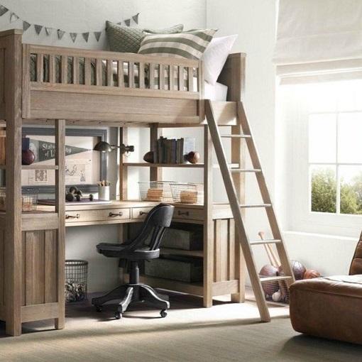 Cama alta dormitorio juvenil
