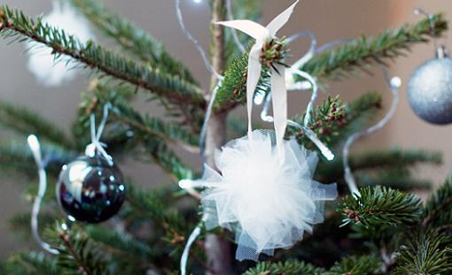 Idea fácil para hacer adornos navideños para el árbol