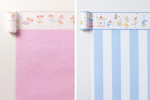 Papel pintado infantil de zara home kids unacasabonita for Papel pared bebe