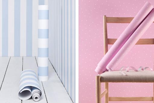 Papel pintado infantil rayas