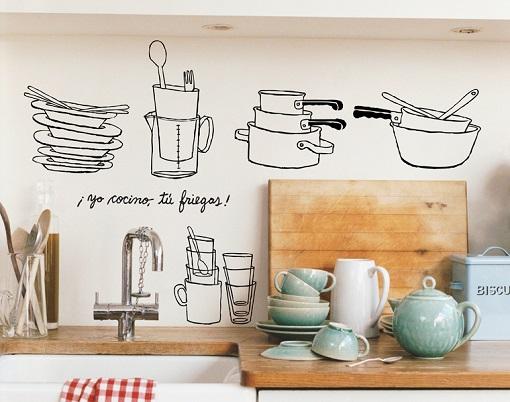Vinilos decorativos para la cocina una buena idea - Vinilo para la cocina ...