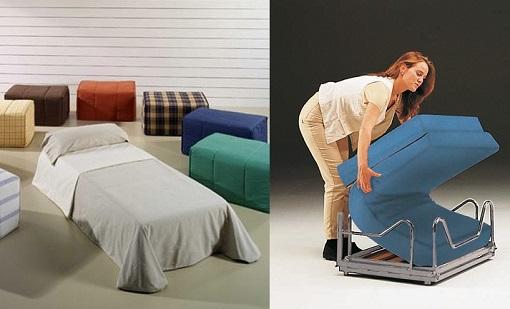 Puff cama un mueble pr ctico y vers til para el sal n for Mueble cama plegable conforama