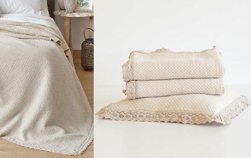 Nuevas colchas de zara home para camas de matrimonio e - Colchas para camas de 150 ...