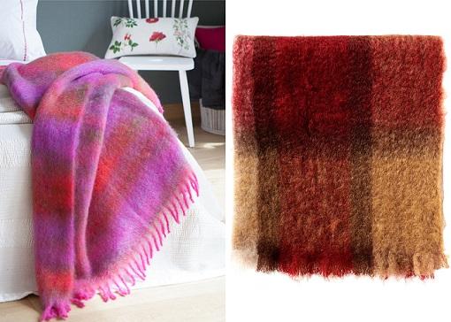mantas de lana de mohair