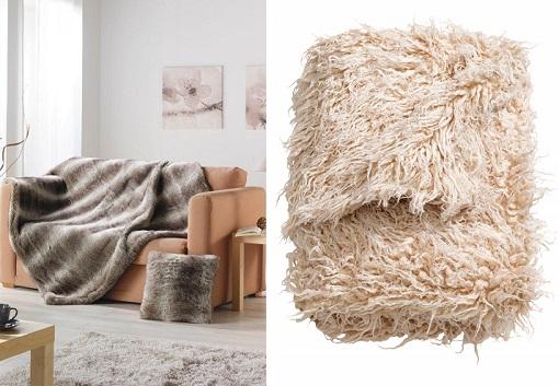 mantas de lana y de pelo para darle un toque de calidez a