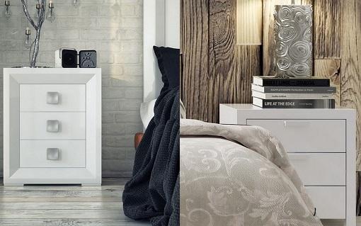 12 mesitas de noche blancas para tu dormitorio n rdico for Mesitas de noche negras