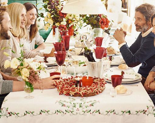 adornar la casa de navidad mesa