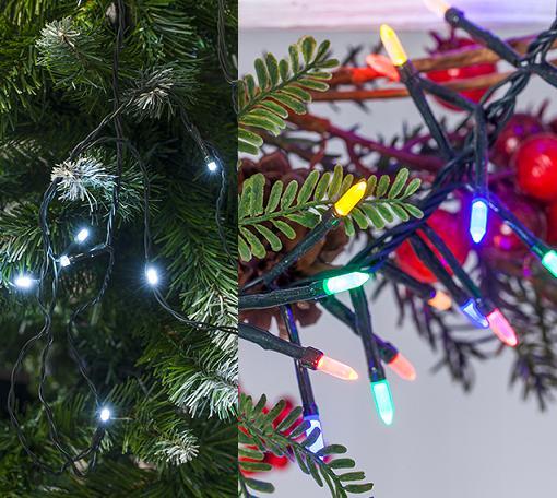 guirnaldas de luces de navidad