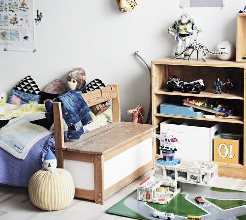 habitación infantil rústica