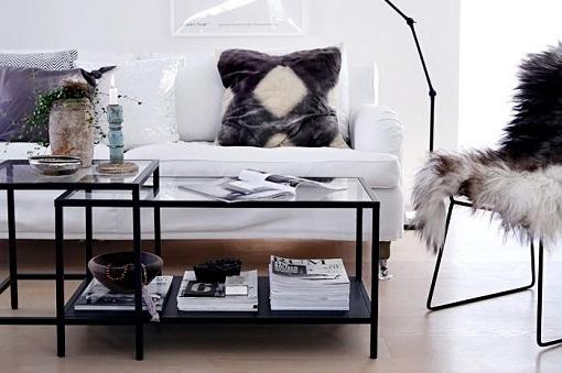 10 mesas de centro baratas y bonitas para decorar tu for Ikea mesas salon centro