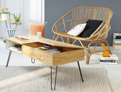 10 mesas de centro baratas y bonitas para decorar tu for Mesas de centro bonitas