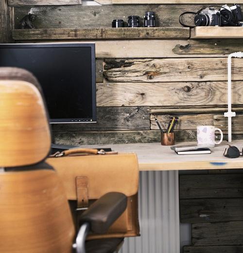oficina en casa rustica