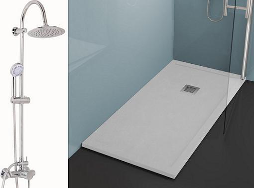 Especial bricor ba os muebles duchas toalleros for Platos de ducha bricor