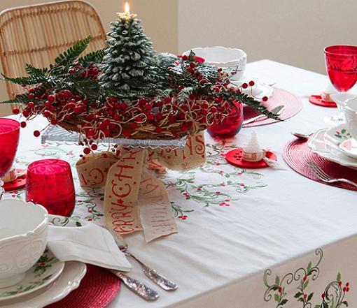 manteles navideños