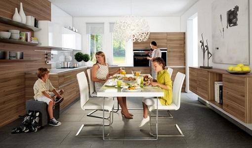 cocina moderna de madera