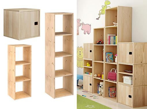 6 estanter as leroy merlin baratas de madera modulares for Mueble libreria leroy merlin
