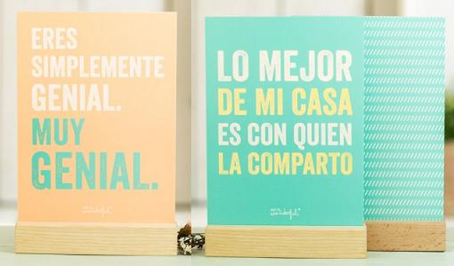 mr wonderful laminas con soportes de madera