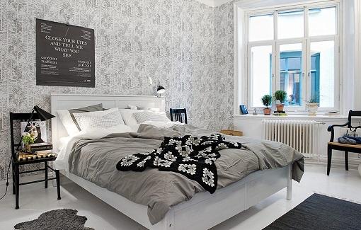 papel pintado en la habitación