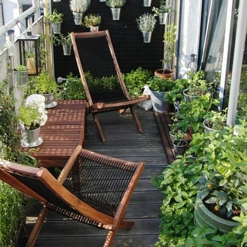 huerto urbano en el balcón