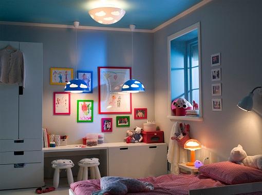 L mparas infantiles ikea decorativas y muy baratas - Lamparas para dormitorios infantiles ...