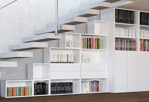 Estanterias modulares madera biblioteca luces de la pared estantera estanteras modular modern - Estanterias modulares de madera ...