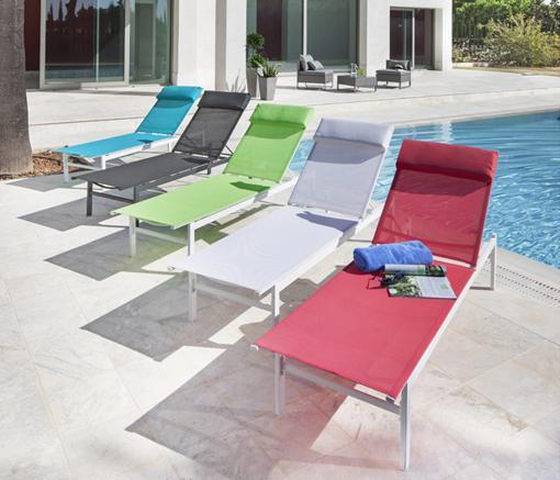 Sillas de terraza carrefour sillon xx cm textilene rojo - Tumbonas jardin ikea ...
