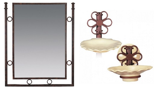 accesorios rústicos para el cuarto de baño