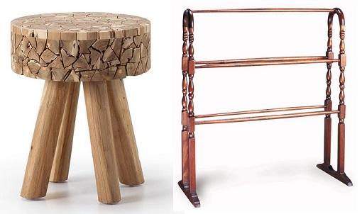 10 accesorios y muebles de ba o r sticos para darle un for Toalleros rusticos