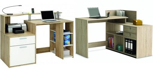 escritorios madera conforama
