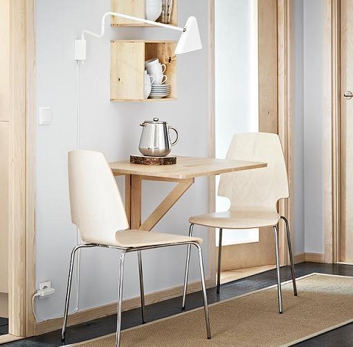 mesas de cocina ikea para espacios pequeños