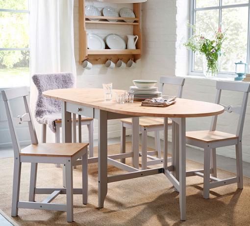 5 mesas de cocina ikea baratas extensibles de madera - Mesas de cocina plegables ...
