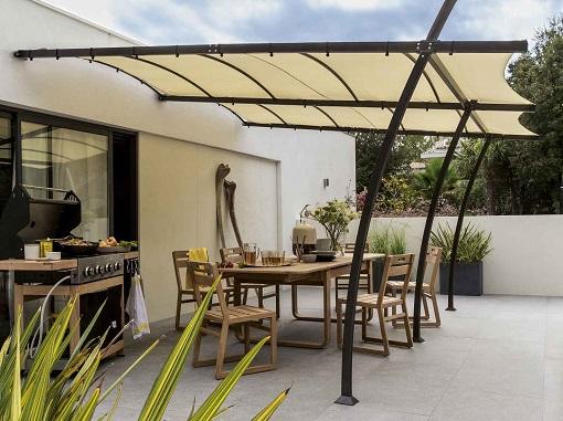 7 p rgolas baratas para disfrutar a n m s de tu terraza o for Ideas para terrazas baratas