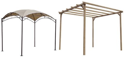 7 p rgolas baratas para disfrutar a n m s de tu terraza o - Pergolas madera baratas ...