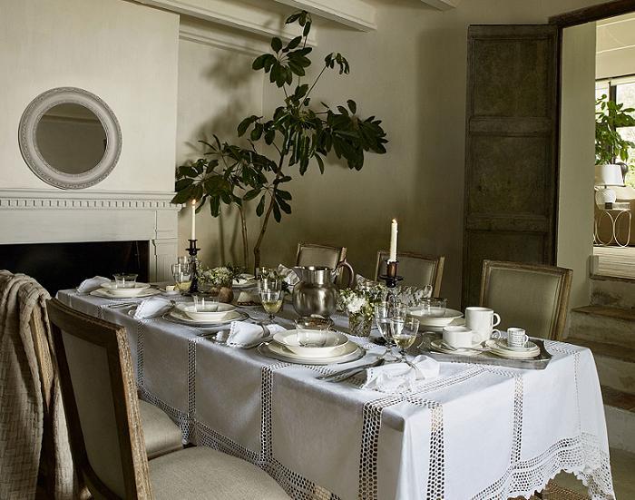 Zara home cat logo oto o invierno 2015 2016 estilo shabby for Zara home manteles mesa