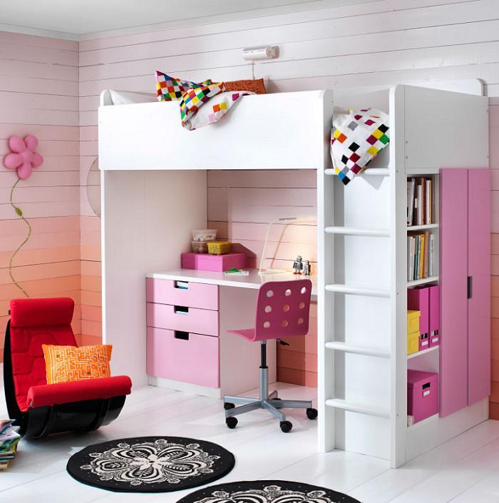 camas infantiles ikea con escritorios