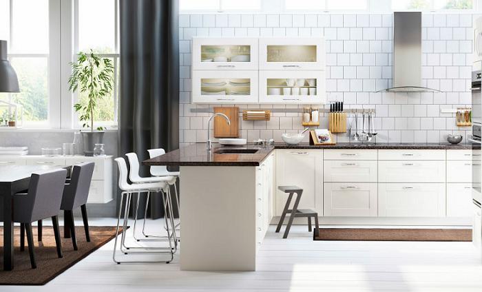 Cocina y salon integrados pequeos cocina con saln with - Cocina salon comedor integrados ...