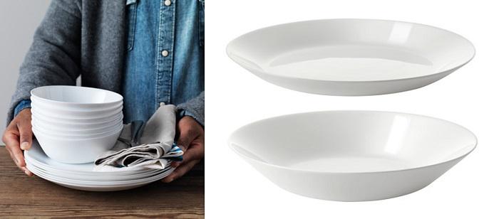 Vajillas de ikea super completas y baratas para tu mesa - Bajo plato ikea ...