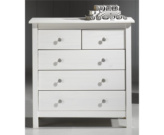 6 c modas conforama para el dormitorio blancas vintage - Comoda vintage blanca ...