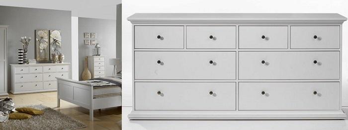 6 c modas conforama para el dormitorio blancas vintage - Comodas para dormitorios ...