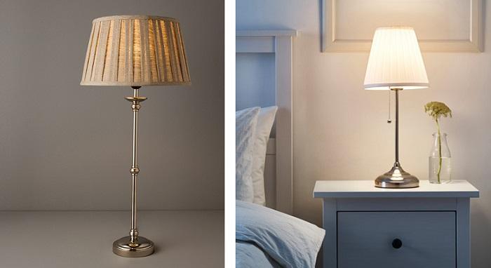 lámparas de mesa de noche clasicas dormitorio