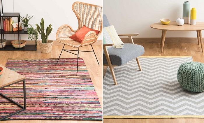 10 alfombras de sal n baratas pero repletas de estilo for Alfombras lavables para salon