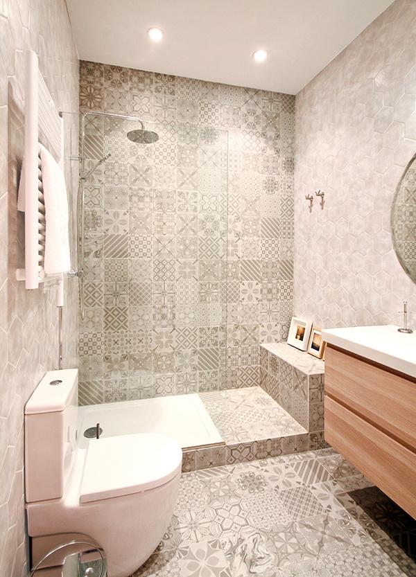 Ideas para un ba o con suelo hidr ulico muy bonito - Azulejos para ducha ...