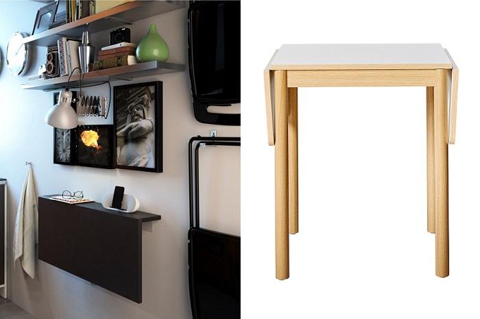 En busca de la mejor mesa para cocina peque a moderna pr ctica y barata - Mesas de cocina abatibles ...