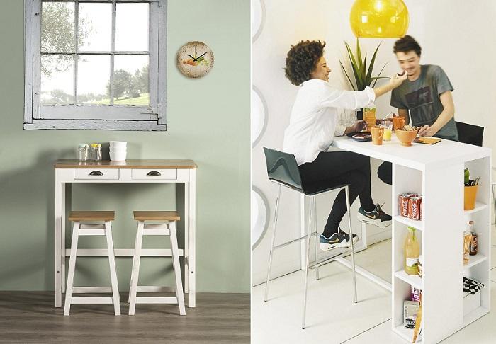 En busca de la mejor mesa para cocina peque a moderna - Mesas cocina altas ...