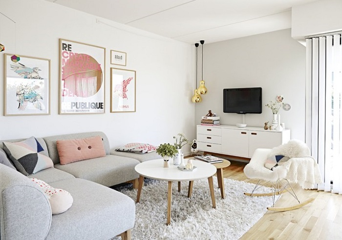 salones escandinavos modernos